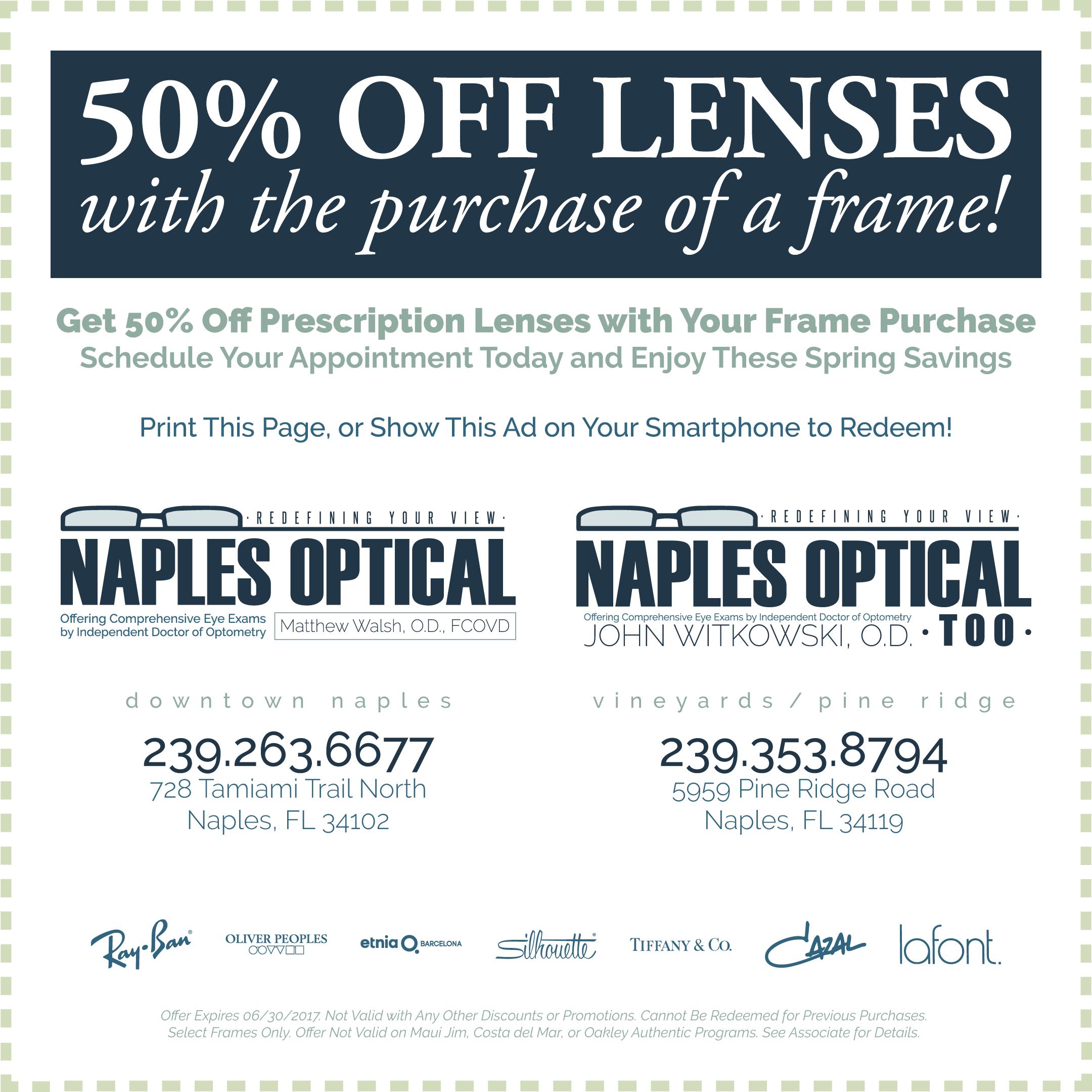 naples optical discount specials june