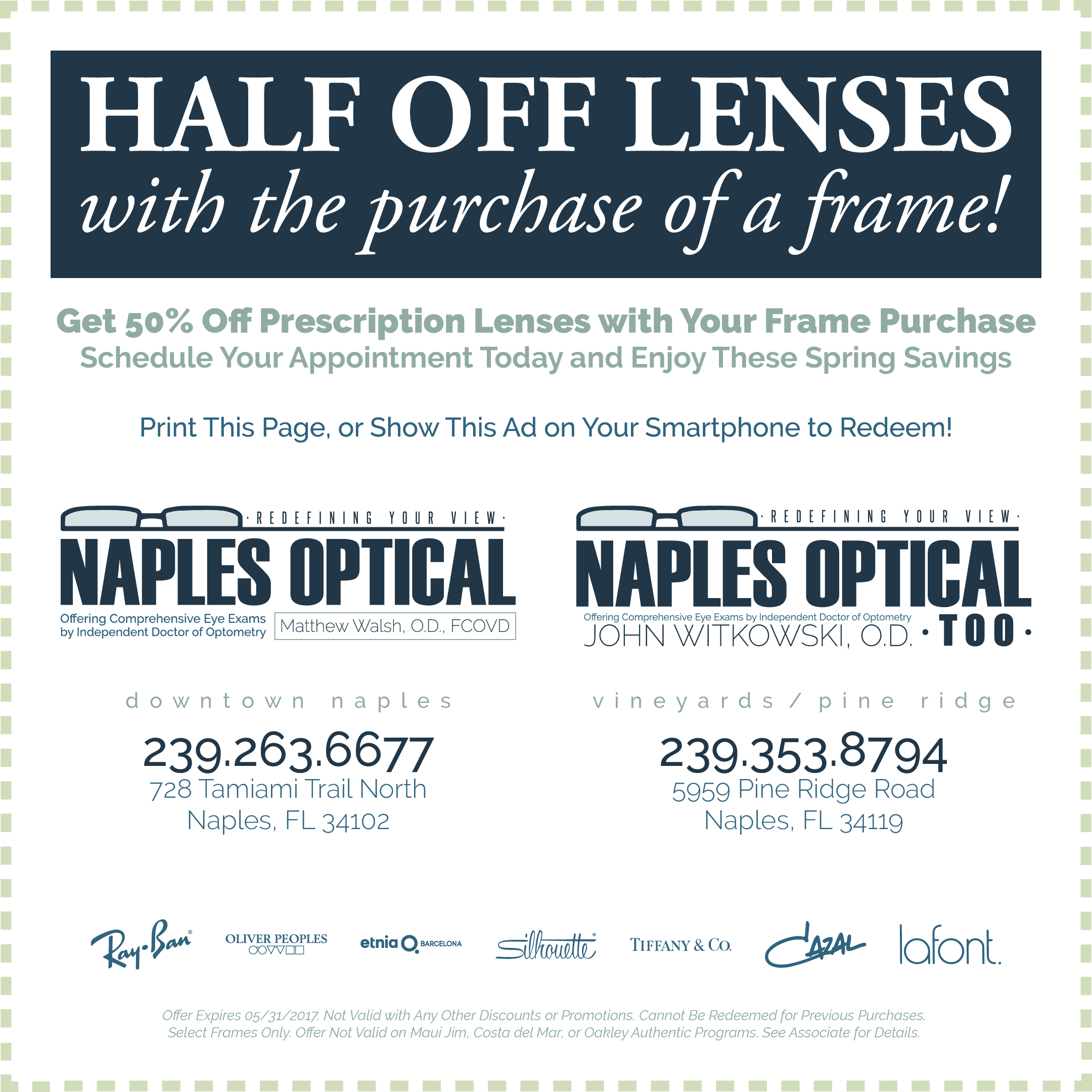 may lenses sale naples optical